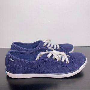 Keds Blue women's 7.5 low top flat shoes lace up